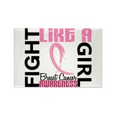 Licensed Fight Like a Girl 3.3 Rectangle Magnet