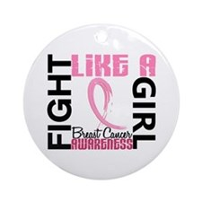 Licensed Fight Like a Girl 3.3 Ornament (Round)
