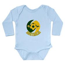 Australia Ball and Kanaroos Long Sleeve Infant Bod