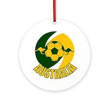 Australia Ball and Kanaroos Ornament (Round)