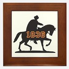 Sam Houston 1836 Framed Tile