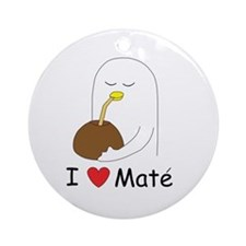 I love mate Ornament (Round)