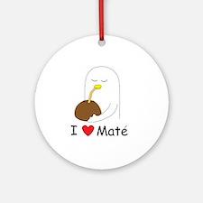 I love mate Ornament (Round)