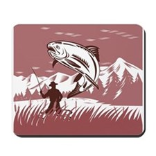fly fishing trout Mousepad