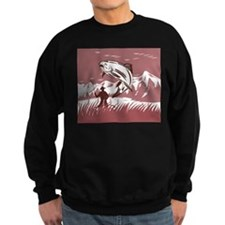 fly fishing trout Sweatshirt