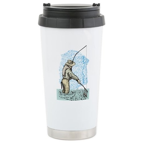 Fly fishing trout Stainless Steel Travel Mug