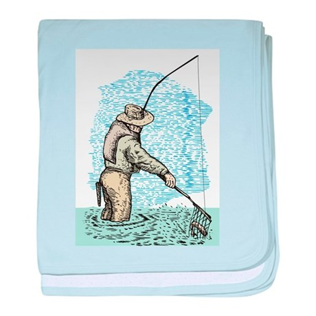 Fly fishing trout Infant Blanket