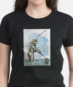 Fly fishing trout Tee
