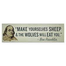 Sheep & Wolves Bumper Sticker