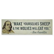 Sheep & Wolves Bumper Bumper Sticker