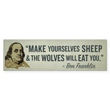 Sheep & Wolves Bumper Sticker