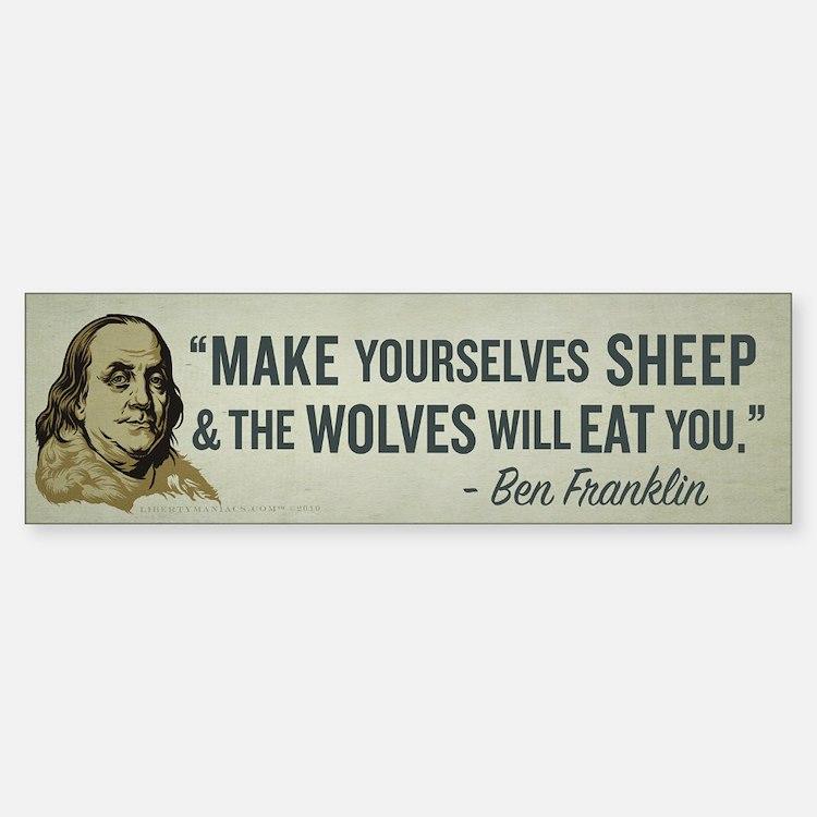Sheep & Wolves Sticker (Bumper)