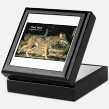 Red Wolf Photo Keepsake Box