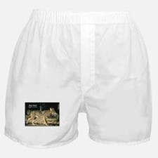 Red Wolf Photo Boxer Shorts