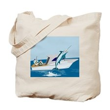 fishing blue marlin Tote Bag