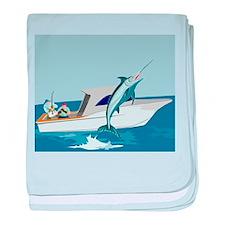 fishing blue marlin Infant Blanket