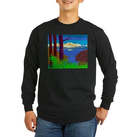 sailboat sailing Long Sleeve Dark T-Shirt
