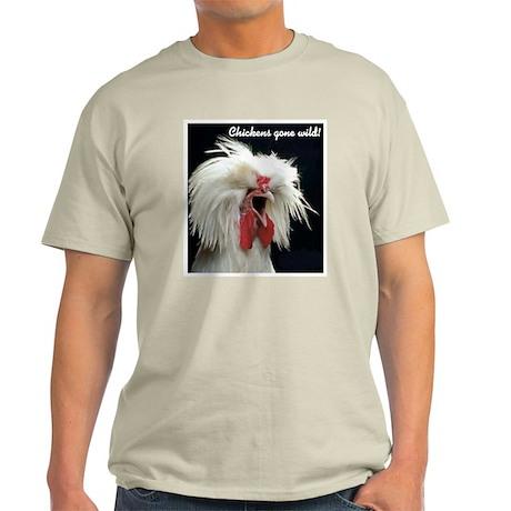 """""""Chickens Gone Wild 2"""" Ash Grey T-Shirt"""