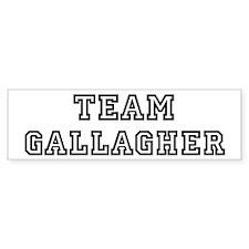 Team Gallagher Bumper Bumper Sticker