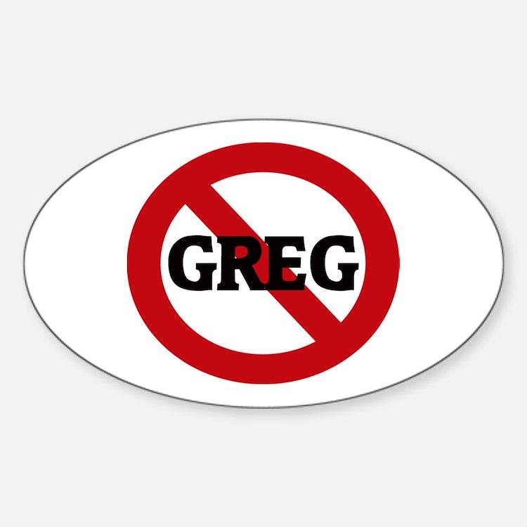 Anti-Greg Oval Decal