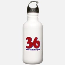 36 years never looked so good Water Bottle