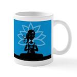 Yoga Girl Silhouette (Blue) Coffee Mug