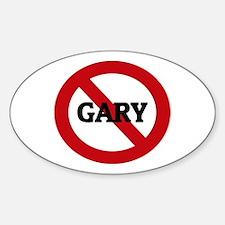 Anti-Gary Oval Decal