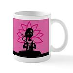 Yoga Girl Silhouette Coffee Mug