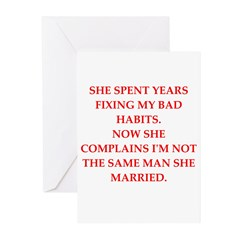 not the same man Greeting Cards (Pk of 10)