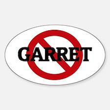 Anti-Garret Oval Decal