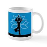 Yoga Girl Silhouette Coffee Mug (Small)