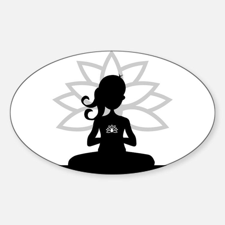 Yoga Girl Silhouette Decal
