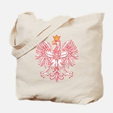 Polish Eagle Outlined In Red Tote Bag