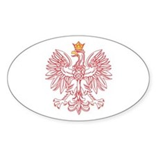 Polish Eagle Outlined In Red Stickers