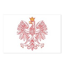 Polish Eagle Outlined In Red Postcards (Package of