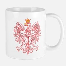 Polish Eagle Outlined In Red Mug