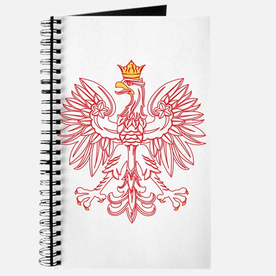 Polish Eagle Outlined In Red Journal