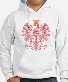 Polish Eagle Outlined In Red Hoodie