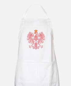 Polish Eagle Outlined In Red Apron