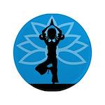"""Yoga Girl Silhouette 3.5"""" Button"""