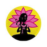 """Yoga Girl Silhouette 3.5"""" Button (100 Pk)"""