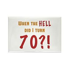 70th Birthday Attitude Rectangle Magnet