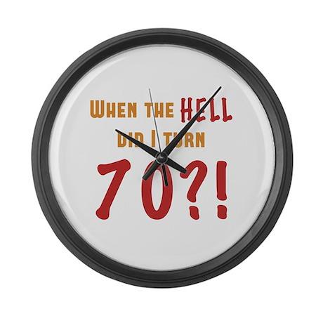 70th Birthday Attitude Large Wall Clock