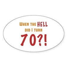 70th Birthday Attitude Decal