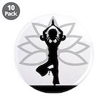 """Yoga Girl Silhouette 3.5"""" Button (10 Pk)"""