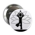 """Yoga Girl Silhouette 2.25"""" Button (100 Pk)"""