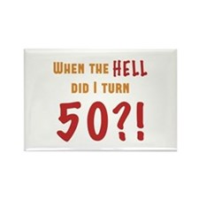 50th Birthday Attitude Rectangle Magnet