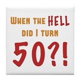 50th birthday gag Drink Coasters