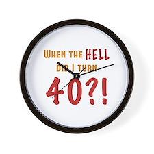 40th Birthday Attitude Wall Clock