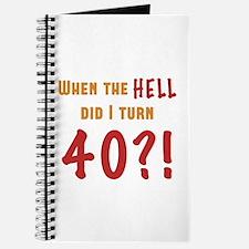 40th Birthday Attitude Journal
